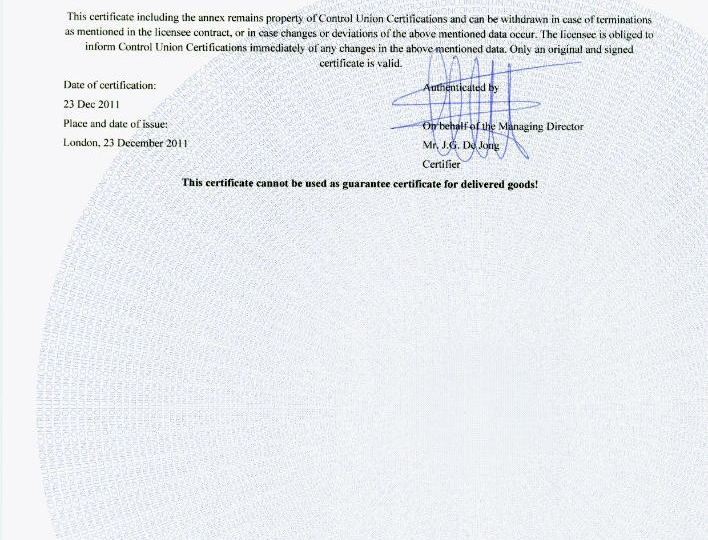 FSC Certificate of AKRITAS page 3